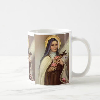 Vintage Religious Easter Nun Cross Christ Roses Coffee Mugs