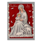 Vintage Religious Madonna and Child Christmas Card