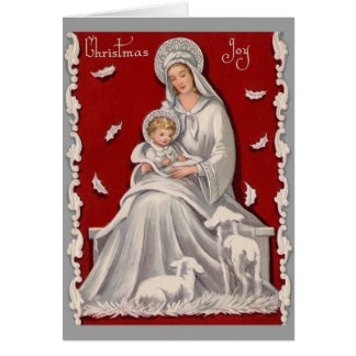 Vintage Religious Christmas Greeting Cards | Zazzle