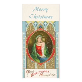 Vintage Religious Mary and Jesus Bookmark Photo Card