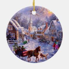 Vintage Religious Nativity Christmas Ornament at Zazzle