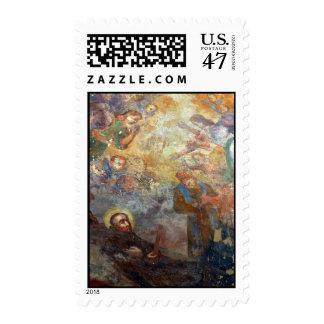 Vintage Religious Painting Art PrintPostage Stamps