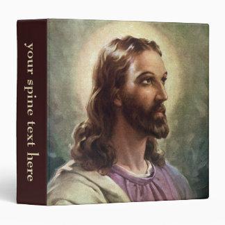 Vintage Religious People, Portrait of Jesus Christ 3 Ring Binder
