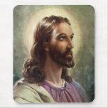 Vintage Religious People, Portrait of Jesus Christ Mousepads