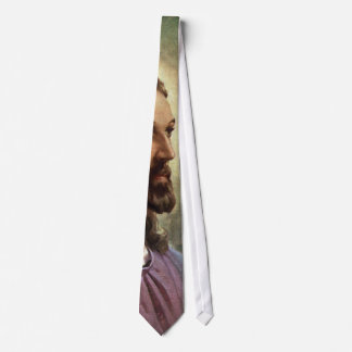 Vintage Religious Portrait, Jesus Christ with Halo Tie