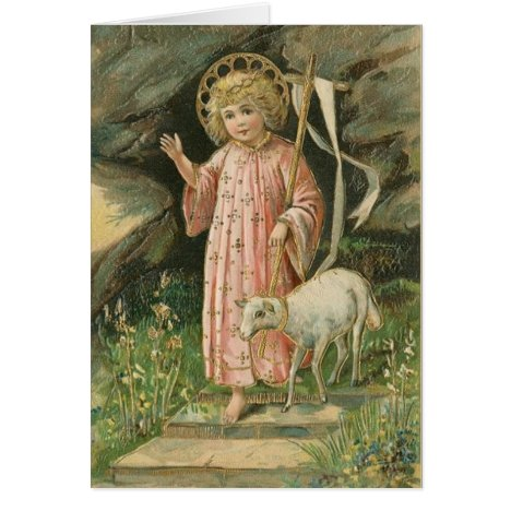 Vintage Religious Risen Lord Easter Card