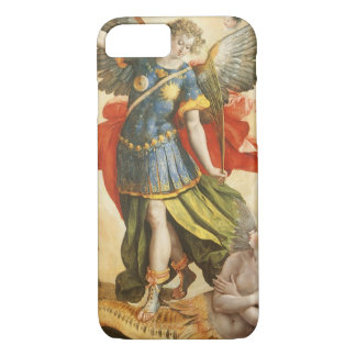 Vintage Religious, Saint Michael Defeats Lucifer iPhone 8/7 Case