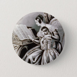 Vintage Remember Thy Creator Illustration 1846 Button