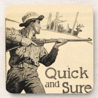 Vintage Remington Quick Sure Rifle Drink Coasters