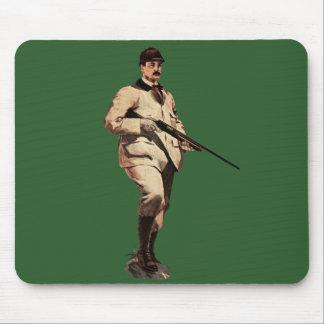 Vintage Remington Shotgun Sportsman Green Mousepad