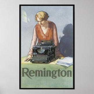 Vintage Remington Typewriter Ad Poster