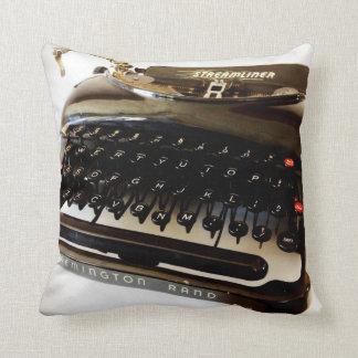 Vintage Remington Typewriter Black White Throw Pil Pillow