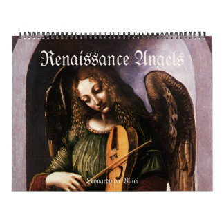 Vintage Renaissance Angels, Antique Fine Art Calendar