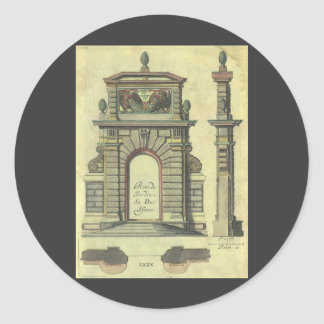 Vintage Renaissance Architecture, Garden Gate Arch Sticker