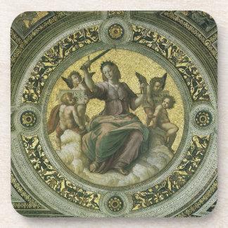 Vintage Renaissance Art, Justice by Raphael Beverage Coaster