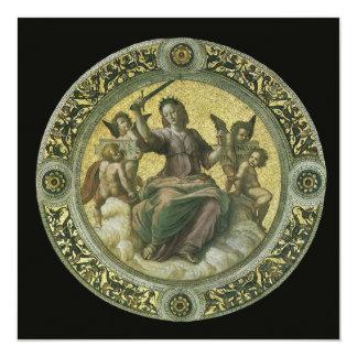 Vintage Renaissance Art, Justice by Raphael Card