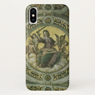 Vintage Renaissance Art, Justice by Raphael iPhone X Case