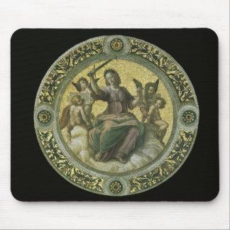 Vintage Renaissance Art, Justice by Raphael Mouse Pad
