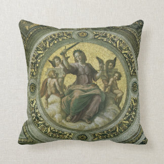 Vintage Renaissance Art, Justice by Raphael Throw Pillow