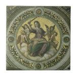 Vintage Renaissance Art, Justice by Raphael Small Square Tile