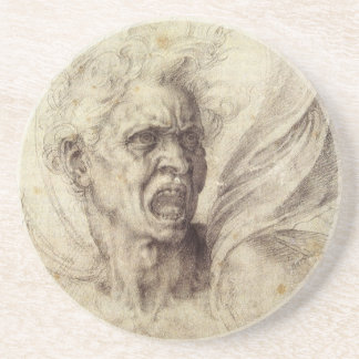 Vintage Renaissance, Damned Soul by Michelangelo Coaster