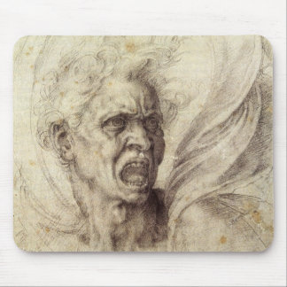 Vintage Renaissance, Damned Soul by Michelangelo Mouse Pad