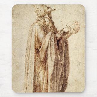 Vintage Renaissance, Philosopher by Michelangelo Mouse Pad