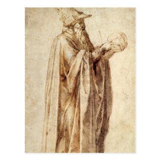 Vintage Renaissance, Philosopher by Michelangelo Postcard