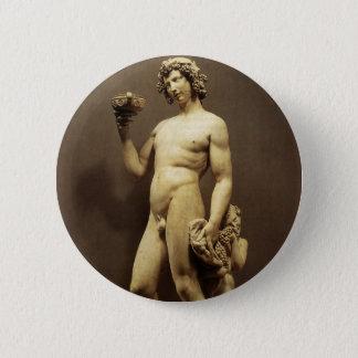 Vintage Renaissance Statue Bacchus by Michelangelo Pinback Button