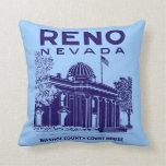 Vintage Reno Nevada Cojin