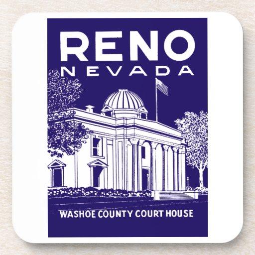 Vintage Reno Nevada Posavasos De Bebida