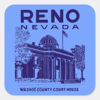 Vintage Reno Nevada Square Sticker