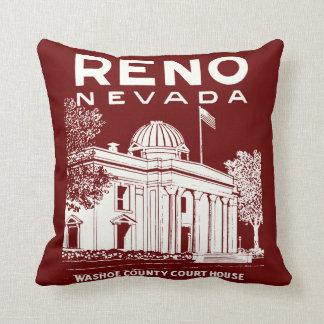 Vintage Reno Nevada Throw Pillow