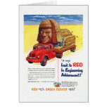 Vintage REO Truck Ad Card