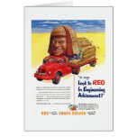 Vintage REO Truck Ad Greeting Card
