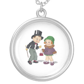 Vintage Reproduction Boy and Girl Necklace