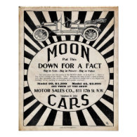 Vintage Reproduction Moon Motor Car Print
