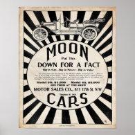 Vintage Reproduction Moon Motor Car Print