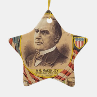 Vintage Republican Party Presidential Campaign Ceramic Ornament