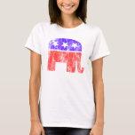 Vintage republicano del elefante playera