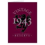 Vintage Reserve 1943 Greeting Cards