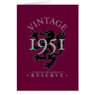 Vintage Reserve 1951 Card