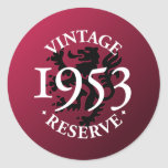 Vintage Reserve 1953 Stickers