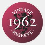 Vintage Reserve 1962 Stickers
