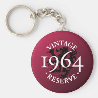 Vintage Reserve 1964 Basic Round Button Keychain