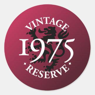 Vintage Reserve 1975 Classic Round Sticker