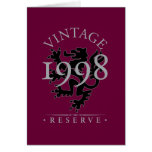 Vintage Reserve 1998 Greeting Card