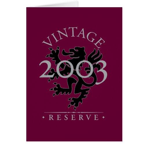 Vintage Reserve 2003 Card