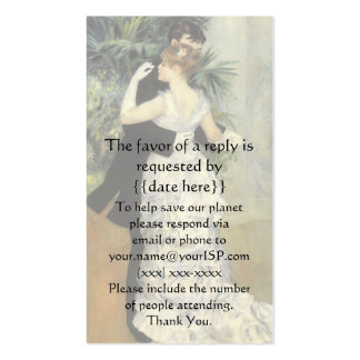 Vintage Response Card, City Dance by Renoir Business Card Templates