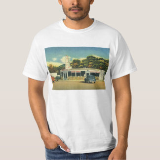 Vintage Restaurant, 50s Drive In Diner and Cars T-Shirt